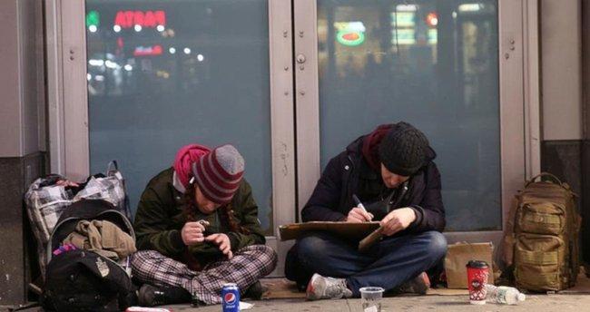 ABD'de evsizler kış
