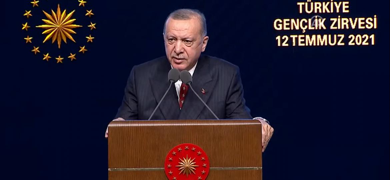 Cumhurbaşkanı Erdoğan Türkiye Gençlik Zirvesi